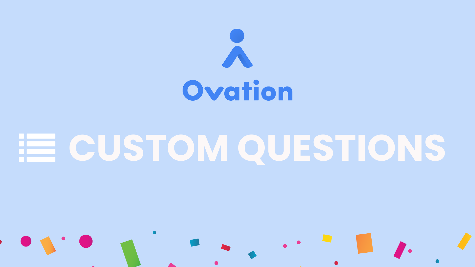 Custom Questions Press Release Graphic